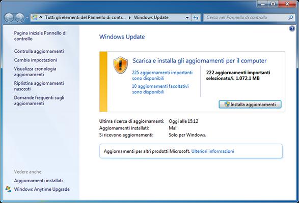 Windows 7 - Aggiornamenti post SP1 (aggiornato a maggio 2016)
