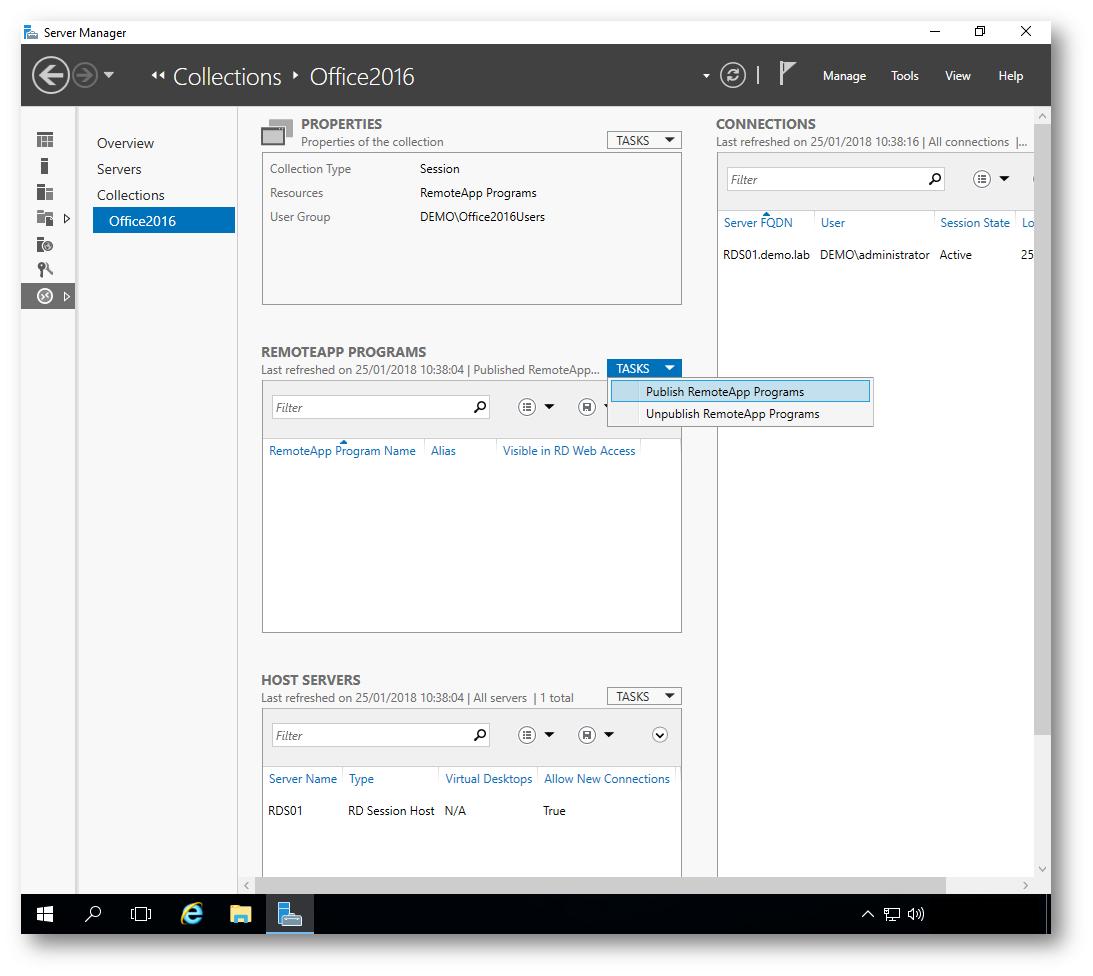 Configurare le RemoteApp con i Remote Desktop Services di Windows