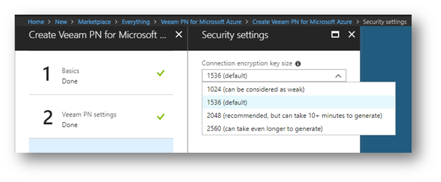 Implementare una VPN site-to-site in Azure con Veeam PN