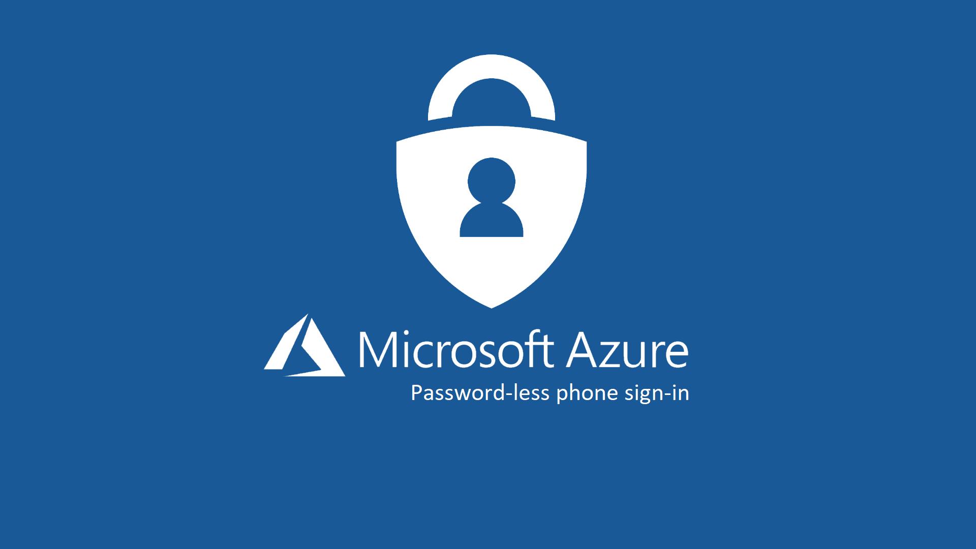 Password-less phone sign-in utilizzando l'app Microsoft