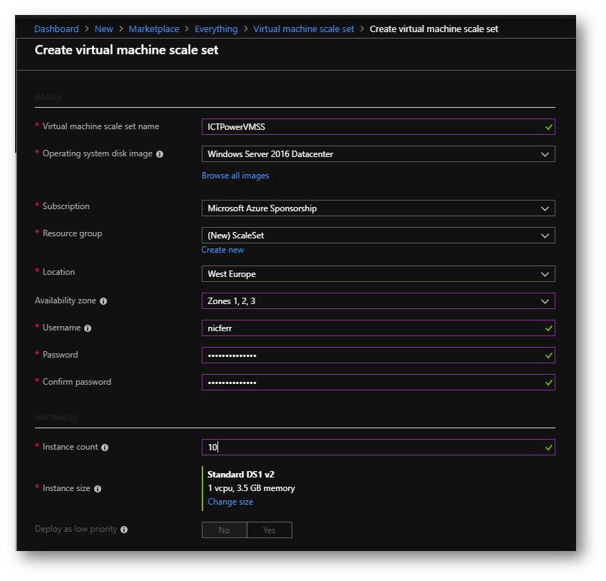 Configurare Azure Virtual Machine Scale Set | ICT Power