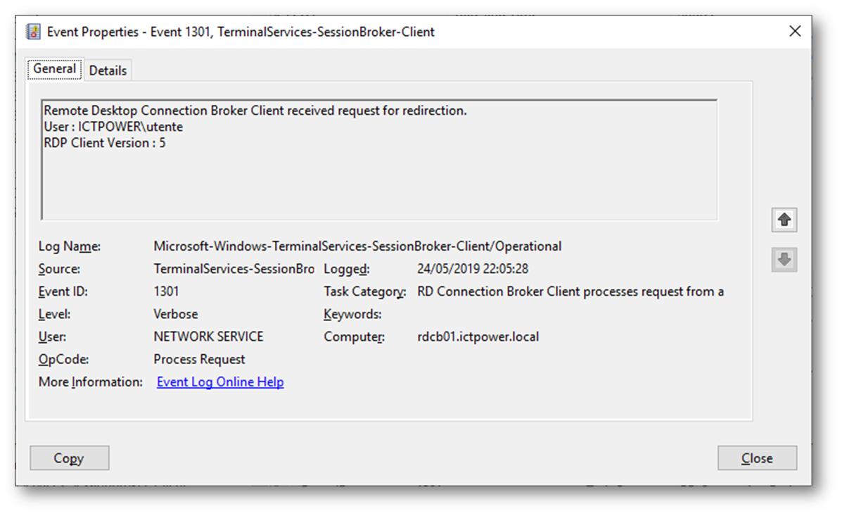 Remote Desktop Services – Troubleshooting ed analisi degli errori di