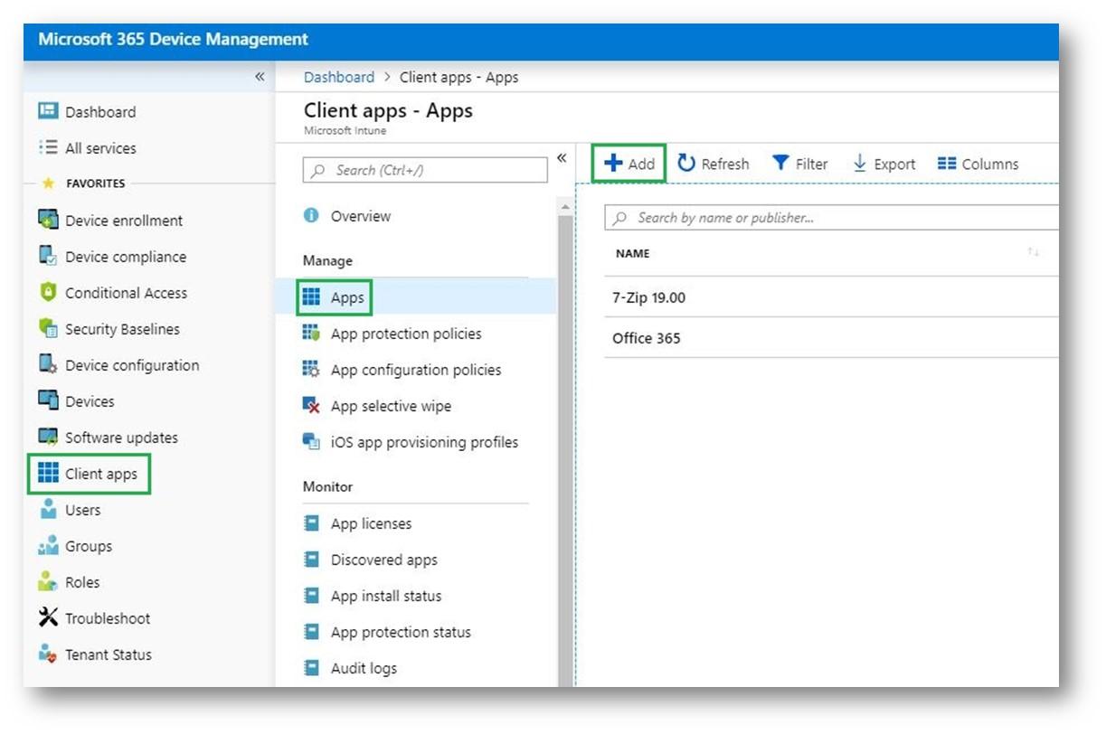 Microsoft 365 Modern Desktop Management – Distribuire e