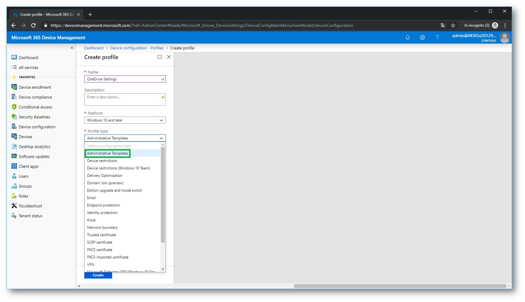 Microsoft 365 Modern Desktop Management – Utilizzo degli
